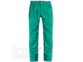 Dievčenské farebné džínsy CARODEL zelené