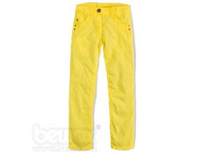 Dievčenské plátenné nohavice KnotSoBad žlté