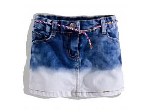 Dievčenská džínsová sukňa KnotSoBad s farebným opaskom