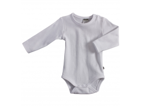 Dojčenské body s dlhým rukávom JACKY BASIC biele
