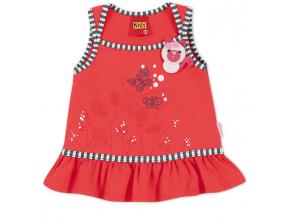 Dievčenské tričko KYLY s aplikáciou MAČIČKA červené