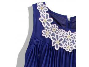 Dievčenské plisované šaty Lily Lola lemon 4 9d48ec259a0