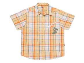 Detská košeľa TUP TUP, krátky rukáv, oranžová