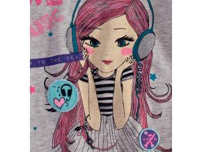 Dievčenské tričko s dlhým rukávom Lilly&Lola