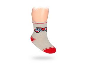 Dojčenské ponožky WOLA, vzor NÁKLADNÉ AUTO