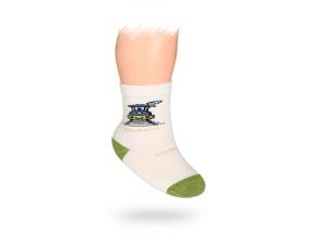 Dojčenské ponožky, vzor VLÁČIK