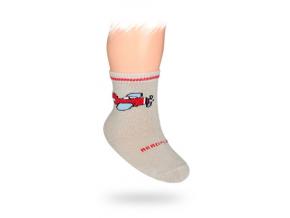 Dojčenské ponožky WOLA, vzor LIETADLO