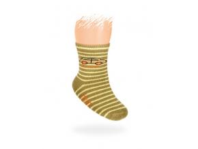 Dojčenské ponožky, vzor AUTÍČKO