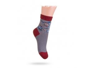 Detské ponožky, vzor VRTUĽNÍKY