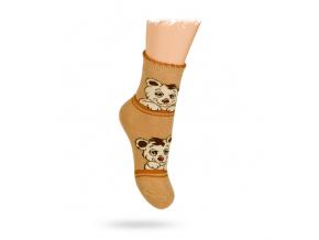 TERMO ponožky, vzor MEDVEDÍKY