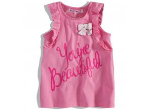 Dievčenské tričko bez rukávov MINOTI HAZE