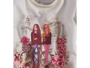 Dievčenské tričko dlhý rukáv Lily&Lola, PASTEL