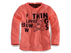 """Dievčenské tričko Dirkje """"BOW"""", dlhý rukáv, oranžové"""