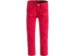 Dievčenské farebné džínsy DIRKJE červené