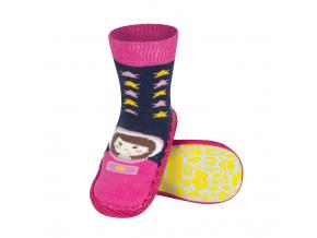 Detské papuče s koženou podošvou SOXO KOSMONAUT