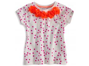 Tričko s krátkym rukávom MINOTI KVETINKY oranžové