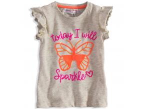 Dievčenské tričko s potlačou MINOTI MOTÝĽ