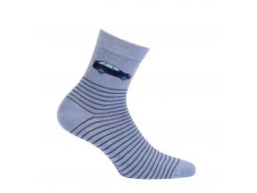 Chlapčenské vzorované ponožky WOLA AUTO modré