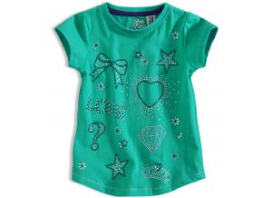Dievčenské tričko PEBBLESTONE DIAMOND zelené