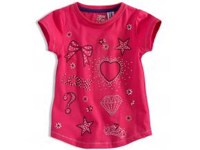 Dievčenské tričko PEBBLESTONE DIAMOND ružové