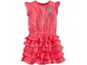 Dievčenské letné šaty DIRKJE STYLE ICON ružové