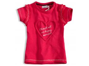 Dievčenské tričko DIRKJE SRDIEČKO ružové