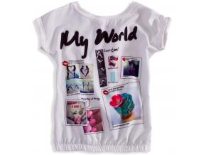 Dievčenské tričko s krátkym rukávom KNOT SO BAD MY WORLD biele