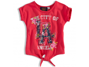 Dievčenské tričko KNOT SO BAD LA červené