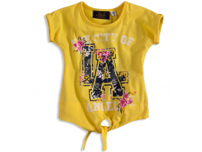 Dievčenské tričko KNOT SO BAD LA žlté