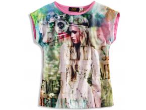 Dievčenské tričko KNOT SO BAD FOTOPOTISK ružové