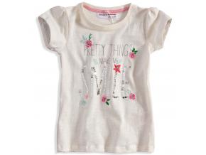 Dievčenské tričko s krátkym rukávom Minoti DITSY biele