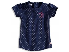 Dievčenské tričko krátky rukáv DIRKJE BOLSA modré