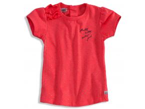 Dievčenské tričko krátky rukáv DIRKJE BOLSA ružové