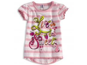 Dievčenské tričko PEBBLESTONE SWEET ružové