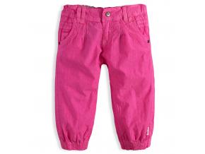Dievčenské plátenné capri nohavice PEBBLESTONE ORIGINAL GIRLS ružové