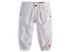 Dievčenské plátenné capri nohavice PEBBLESTONE ORIGINAL GIRLS biele