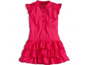 Dievčenské letné šaty PEBBLESTONE GIRLS STAR ružové