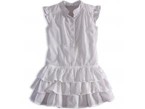 Dievčenské letné šaty PEBBLESTONE GIRLS STAR biele