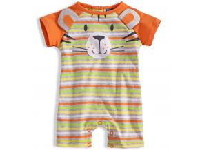 Dojčenský letný overal KNOT SO BAD BEAR oranžový