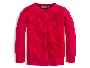 Dievčenský sveter KNOT SO BAD LACE tmavoružový