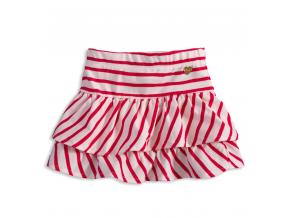 Dievčenská bavlnená sukňa KNOT SO BAD CUTE červený prúžok