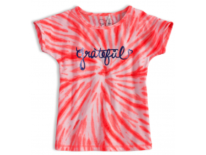 Dievčenské tričko KNOT SO BAD GRATEFUL oranžové