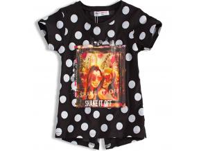 Dievčenské tričko MINOTI SHAKE čierne s bodkou