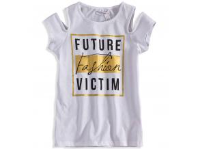 Dievčenské tričko s potlačou MINOTI FASHION biele
