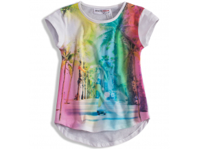 Dievčenské tričko MINOTI SUN biele