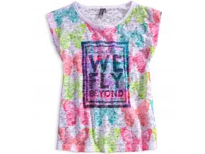 Dievčenské tričko LOSAN FLY biele