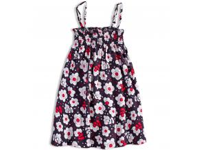 Dievčenské šaty na ramienka LOSAN KVETINKY tmavomodré