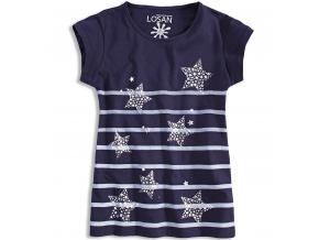Dievčenské tričko LOSAN HVIEZDY tmavomodré