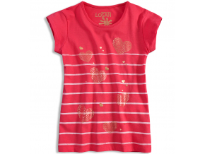 Dievčenské tričko LOSAN SRDCE ružové
