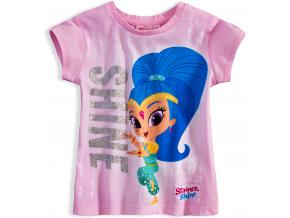 Dievčenské tričko SHIMMER & SHINE SHINE ružové